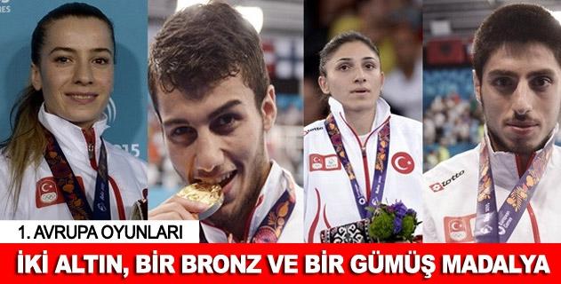 Türk sporculardan 2 altýn 1 bronz ve 1 gümüþ madalya