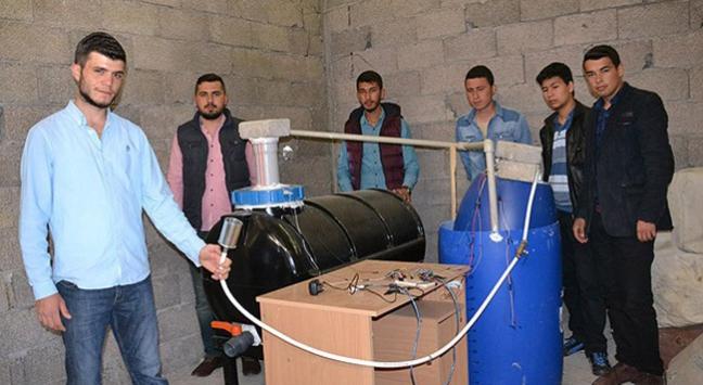 Öğrencilerden biyogaz üreten proje