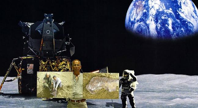 Gök taşı toplamak için dünyayı dolaşıyor