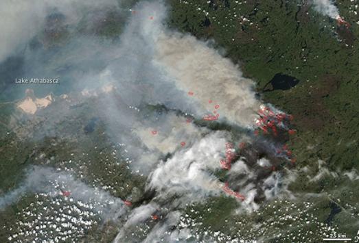 Kanada'daki orman yangını büyüyor