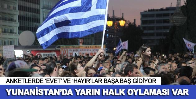 Yunanistanda halk oylamasına doğru
