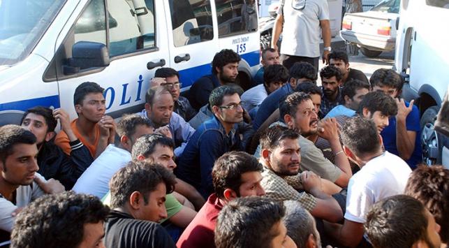 Çanakkalede 38 kaçak göçmen yakalandı
