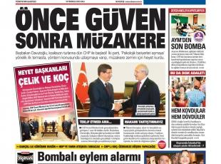 14 Temmuz Gazete Manşetleri