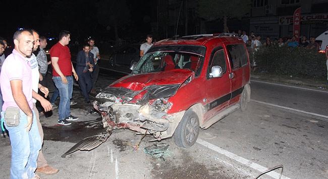 Samsunda trafik kazasında 10 kişi yaralandı
