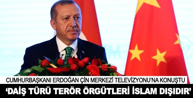 Cumhurbaşkanı Erdoğan Çin televizyonuna konuştu