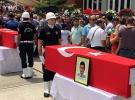 Şehit polis memurları son yolculuklarına uğurlandı
