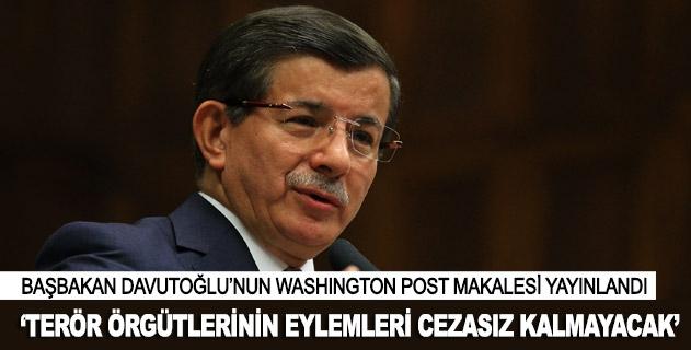 Davutoğlu: Terör örgütleri yok edilene kadar mücadelemiz sürecek