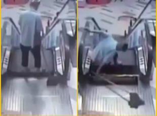 Yine yürüyen merdiven kazası!