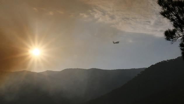 İzmirde büyük orman yangını