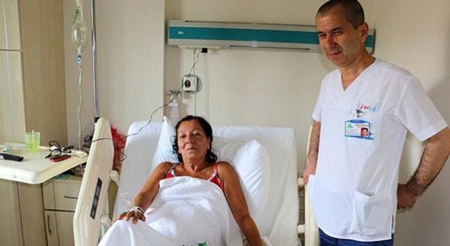 Karnından 11 kilogramlık tümör çıkarıldı