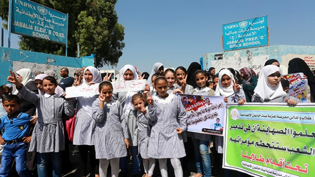 """Gazzede """"UNRWA"""" protesto edildi"""