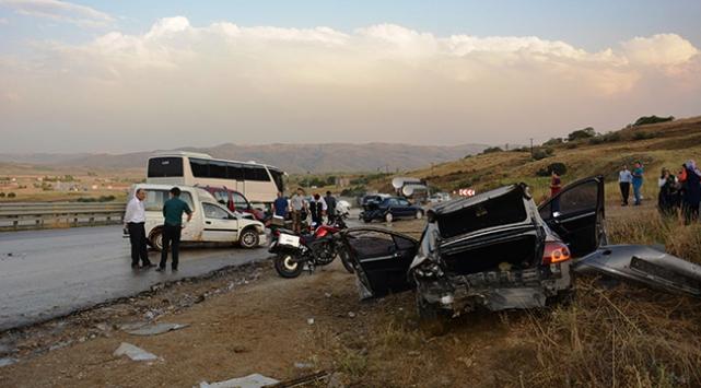 Ankara Elmadağda zincirleme kaza