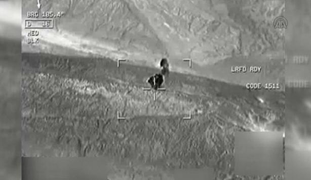 PKKnın mühimmat deposunun imhasına ilişkin görüntüler