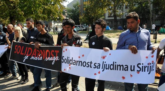 Belgraddaki sığınmacılara yardım
