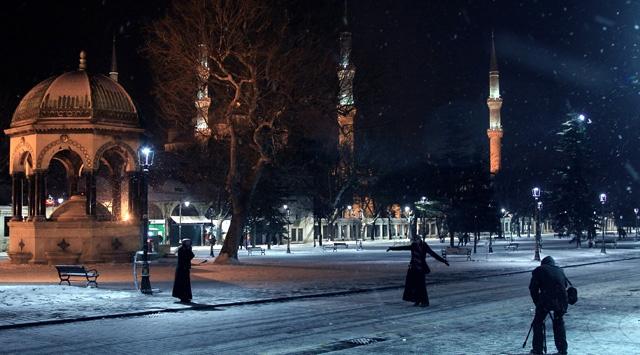 Sultanahmet Kar Altında Bir Başka Güzel