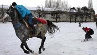 """Atlarla """"Snowboard"""" Keyfi"""