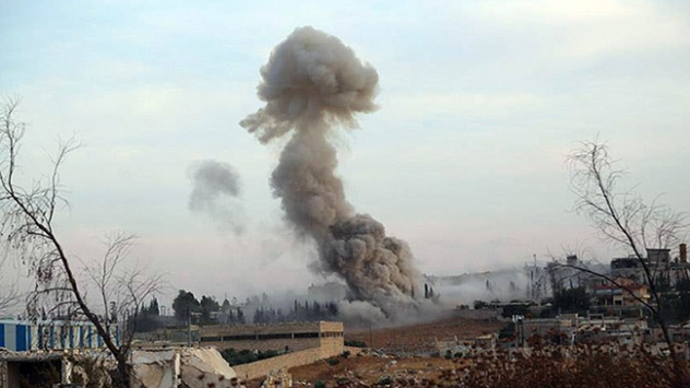 Rusya Suriyeli muhaliflerin mühimmat depolarına saldırdı
