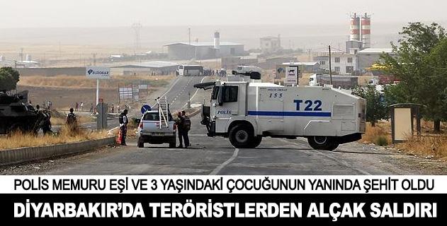 Diyarbakırda alçak saldırı: 1 şehit