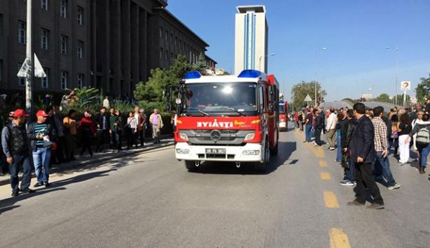 Ankarada patlama meydana geldi