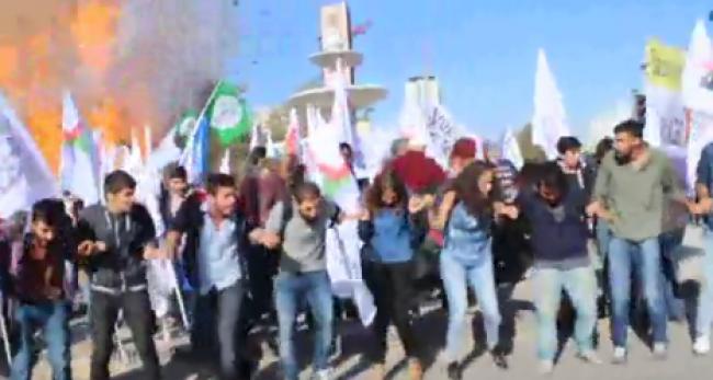 Ankaradaki patlama anı kameraya kaydedildi