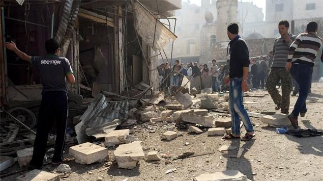 Suriyenin Telbise ilçesinde zehirli gaz kullanıldı