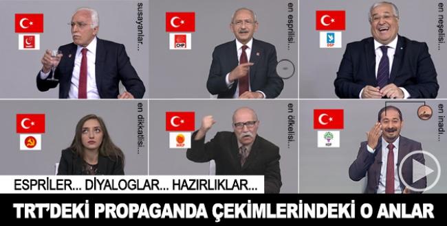 TRT propaganda çekimleri kamera arkası görüntüleri