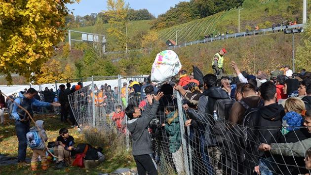 Slovenya sığınmacı kontrolü için tel örgü çekiyor