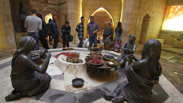 Gaziantepte Hamam Müzesine ziyaretçi akını