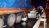 Manisada otomobil TIRa çarpması sonucu bir kişi öldü