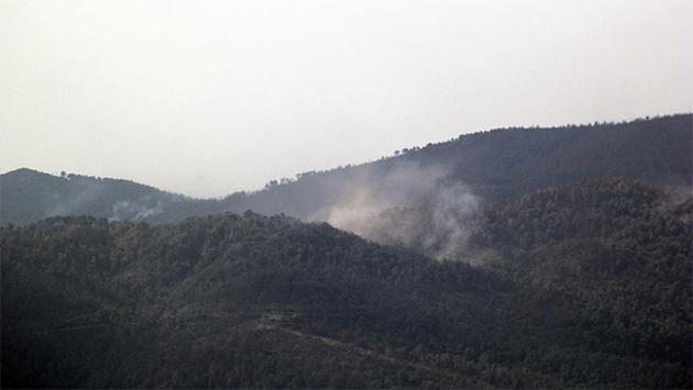Türkmen Dağına top atışı yapılıyor