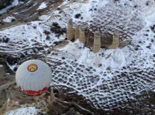 Kapadokyada kış güzelliği