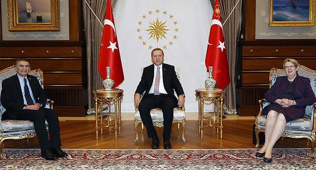 Erdoğan, Nobel ödüllü Prof. Dr. Sancarı kabul etti