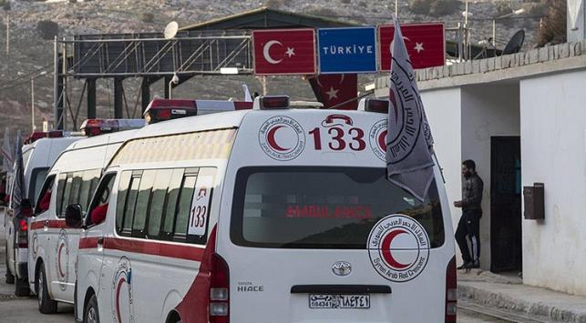 İHHnın Suriyede değişimini sağladığı yaralılar Türkiyeye geldi