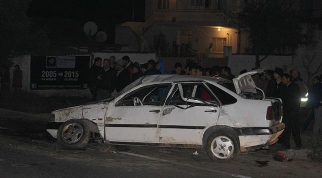 Manisada trafik kazası, 1 ölü, 4 yaralı
