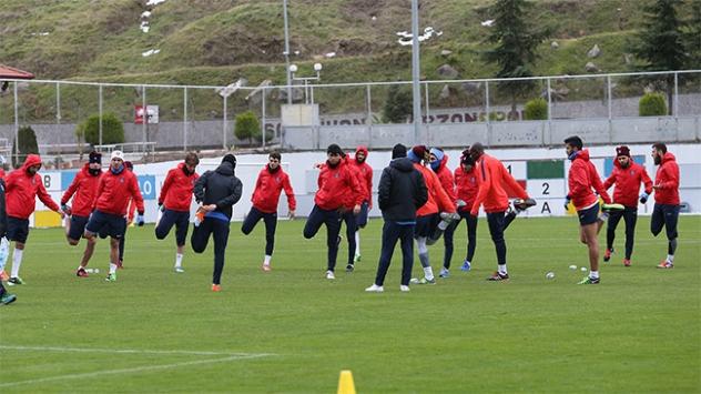 Trabzonspor, Adanaspor maçı hazırlıklarını sürdürdü