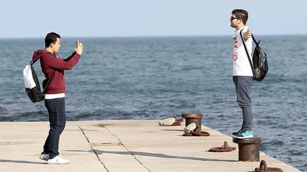 Trabzonda vatandaşlar güzel havanın tadını çıkardı