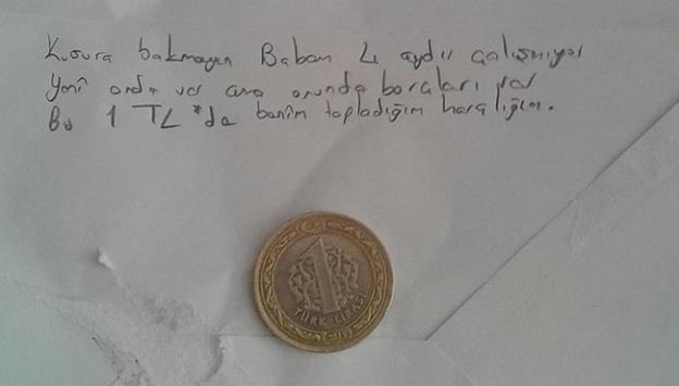 1 lira bağışlayan Ebru ayın öğrencisi seçildi