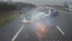 Trafik kazası kamerada...