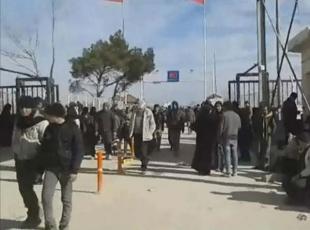 Suriyedeki siviller kaçıyor