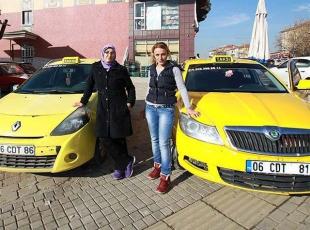 Bu taksiler sadece kadınlara hizmet ediyor