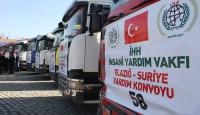 İHH, sınırdaki Suriyelilere yardıma başladı