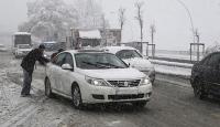 Ankarada yoğun kar yağışı trafiği aksattı