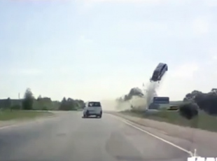 Korkunç kaza araç kamerasında