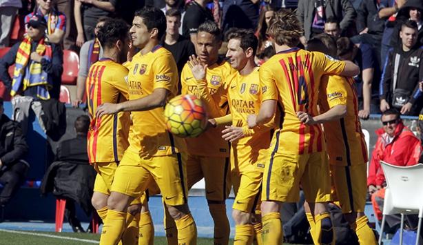 Barcelona, Levanteyi 2-0 yendi