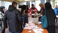 Avrupada sığınmacılar için yemek programı