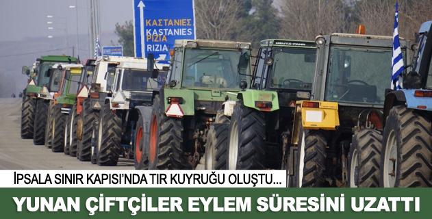 Yunan çiftçiler eylemlerini uzattı