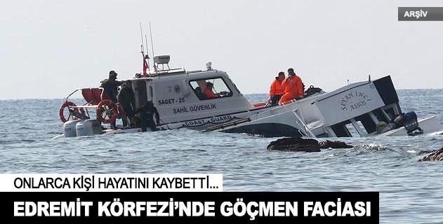 Edremit Körfezinde göçmen teknesi battı