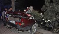Kütahyada trafik kazası: 2 yaralı