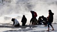 Pamukkaleye yabancı turistlerin ilgisi devam ediyor