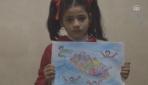 """Suriyeli küçük ressam Türkiyenin """"dost eli""""ni resmediyor"""
